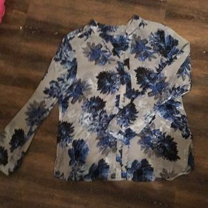 Ny collection floral top size large